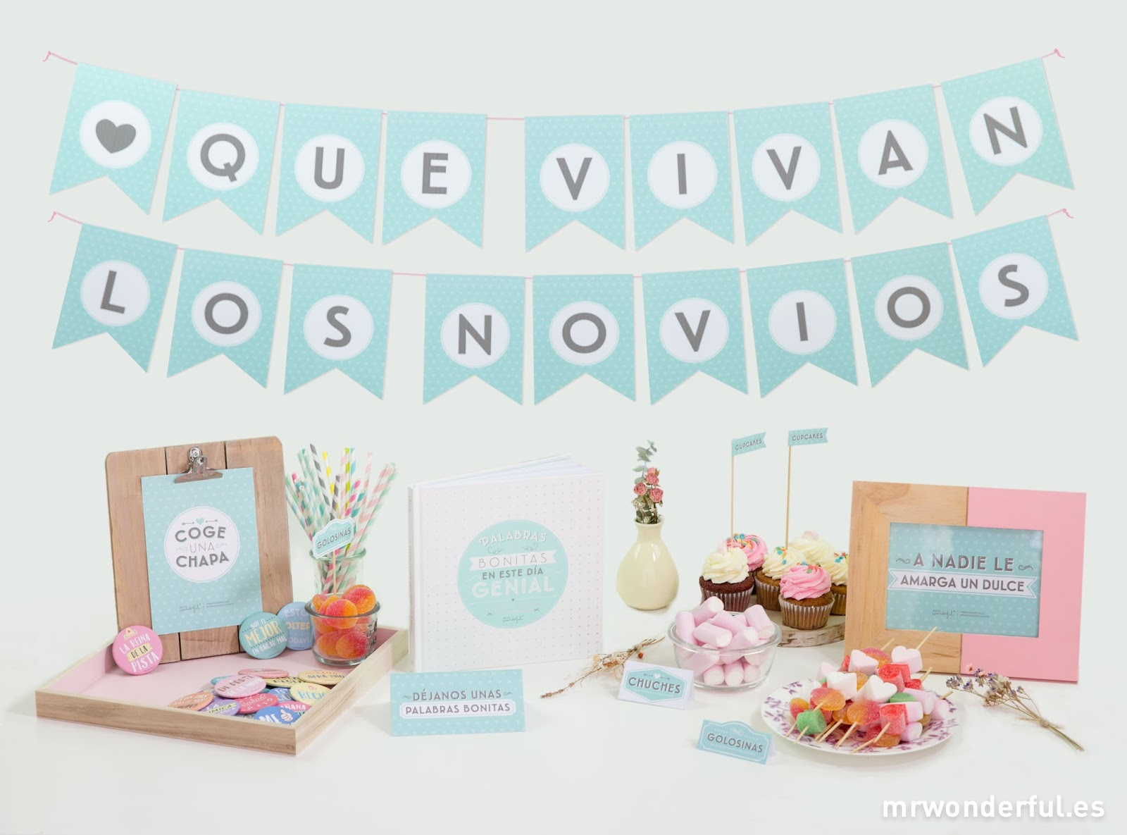 Banderines imprimibles gratis para tu boda blog de bodas for Plantillas mr wonderful