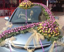 Wedding Snaps: Wedding Car Decoration Design