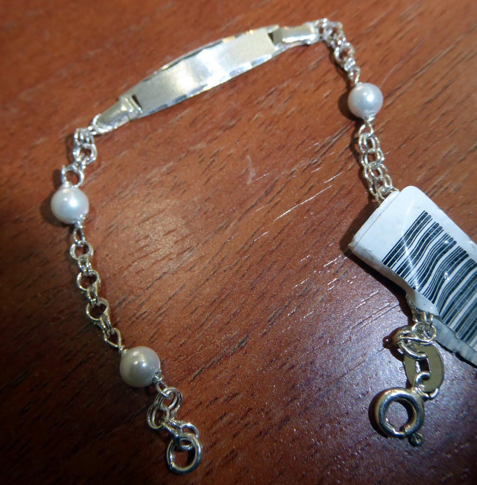 Pulsera de identidad de plata