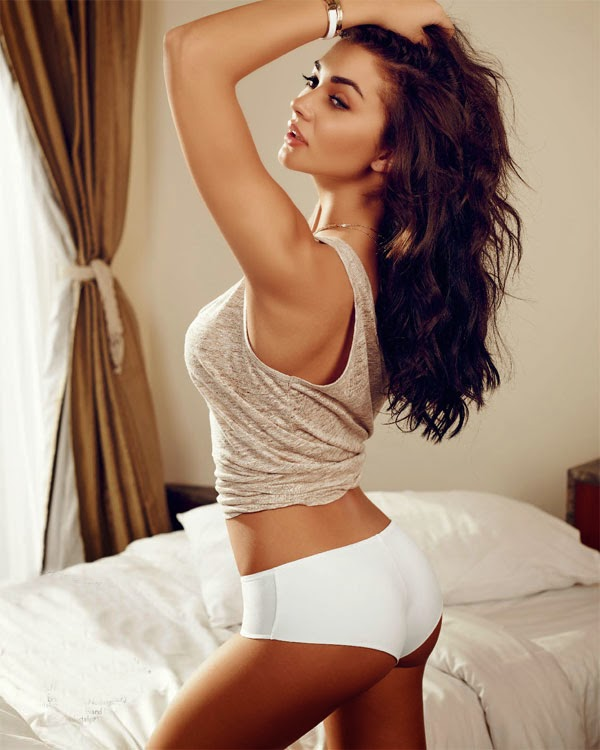 Bed with Amy Jackson - Maxim Photoshoot