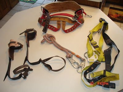 TREE CLIMBING GEAR / EQUIPMENT ROPE SPIKES | eBay