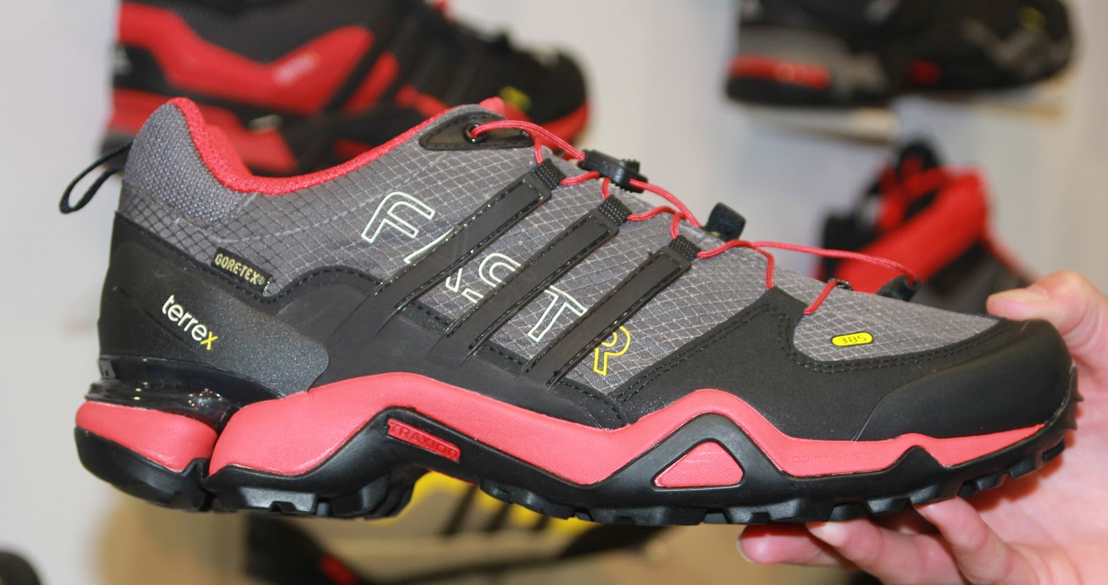 Terrex Fast R GTX $180-men's light low cut shoes with Grippy Continental™  rubber and Formotion®, Forefoot plate and adiPRENE ®, Gore-Tex® ...