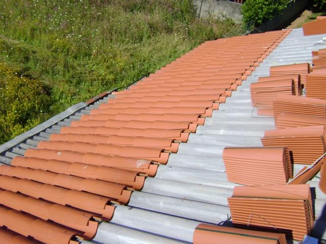 El sexagenario cubierta tejado de una casa unifamiliar - Tejado a un agua ...