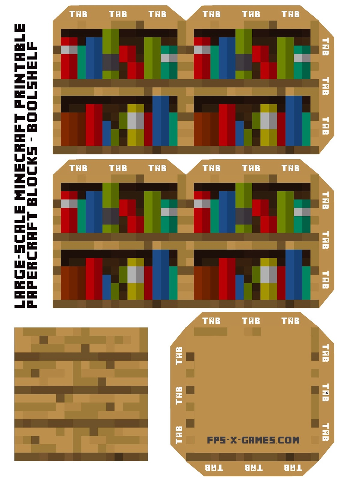 Wonderful image of large scale minecraft bookshelf large scale minecraft printable with #BA0004 color and 1131x1600 pixels
