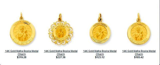 Christmas and Holiday Gift Ideas - Gold Patron Saint Medals