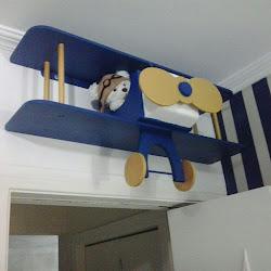 urso aviador avião prateleira