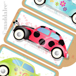 RETRO 70's VW BUG BOOKMARK/TAG