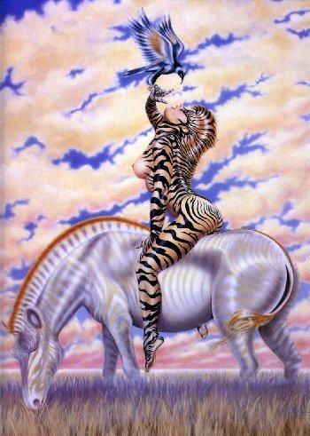 """Zebra Lady"""" 1980"""