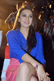 Hansika Motwani Pictures in Pink Mini Skirt at Crazy Movie Audio Launch  0016
