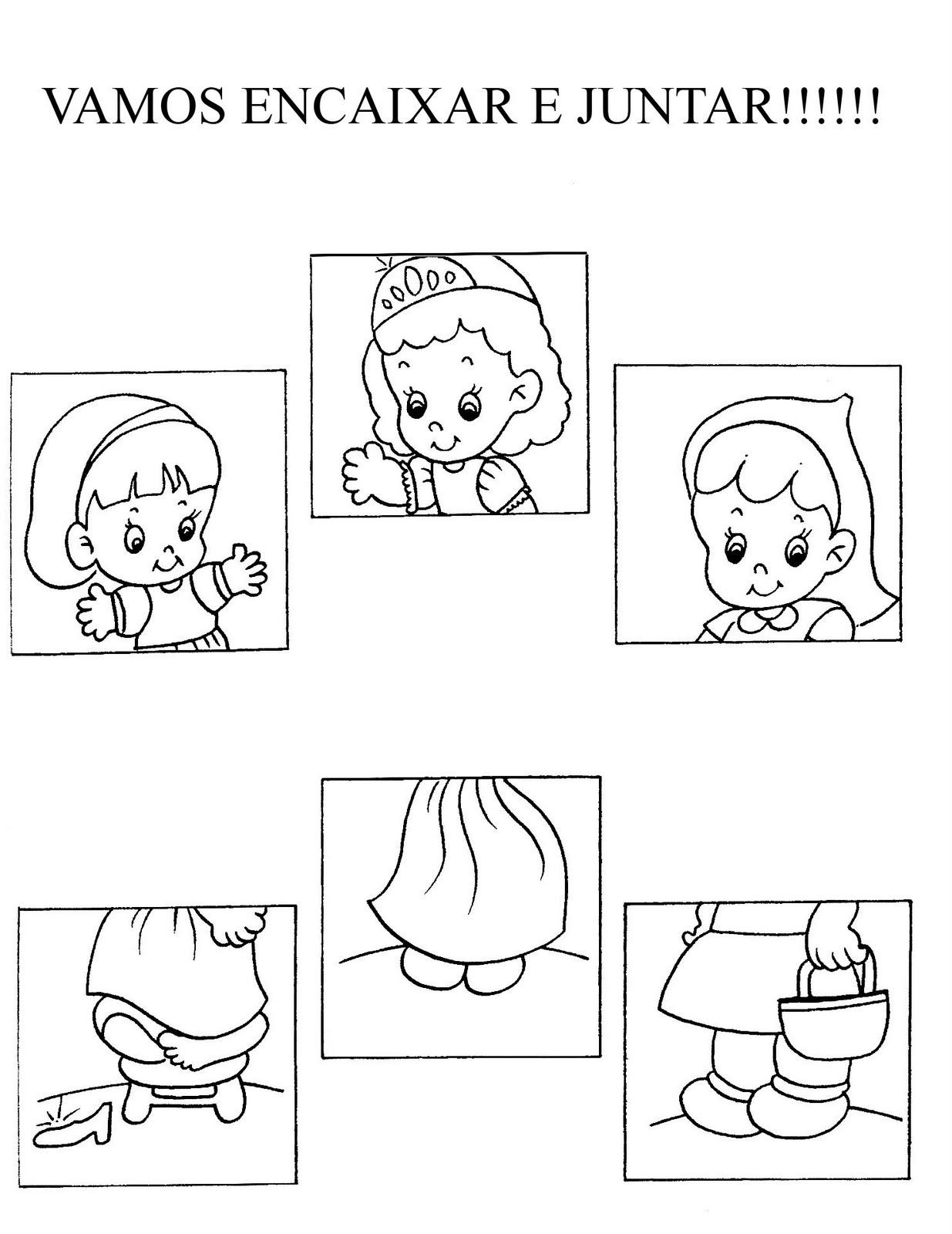 Desenhos Para Colorir Quebra cabeça turma da monica mickey e outros para recortar