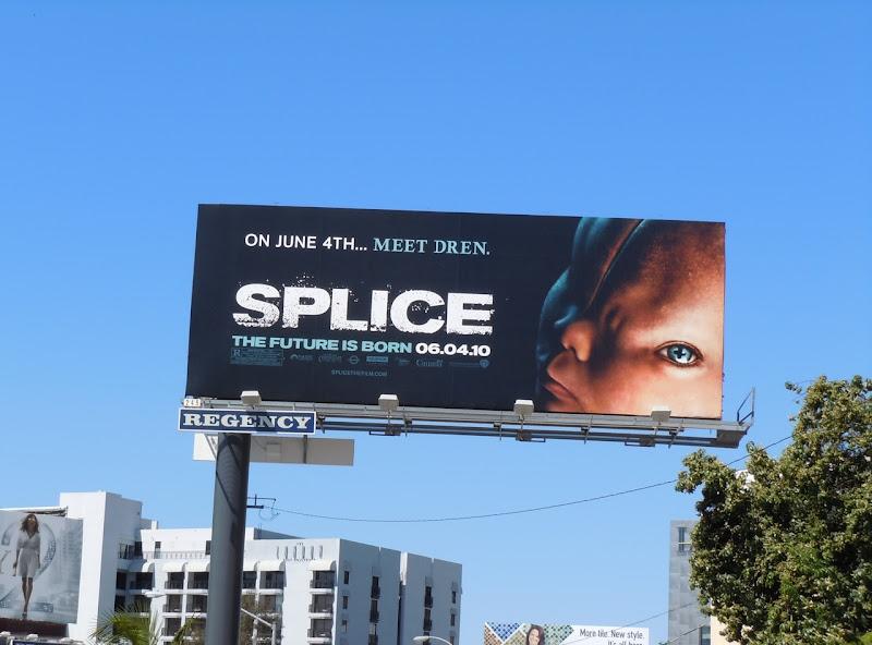 Splice movie billboard
