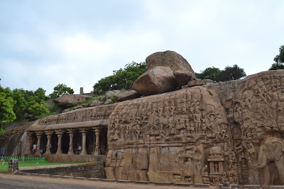 Arjuna penanc  in Mahabalipuram  and near by caves