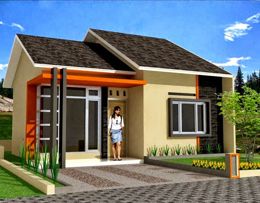 contoh model rumah sederhana pas untuk keluarga kecil