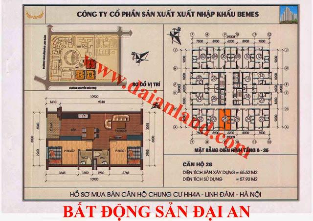 Căn hộ số 28 - Chung Cư HH4A Linh Đàm