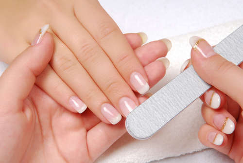 how to cut natural nails under acrylics