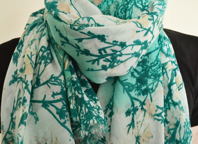 Photo of French connection tree print green scarf review