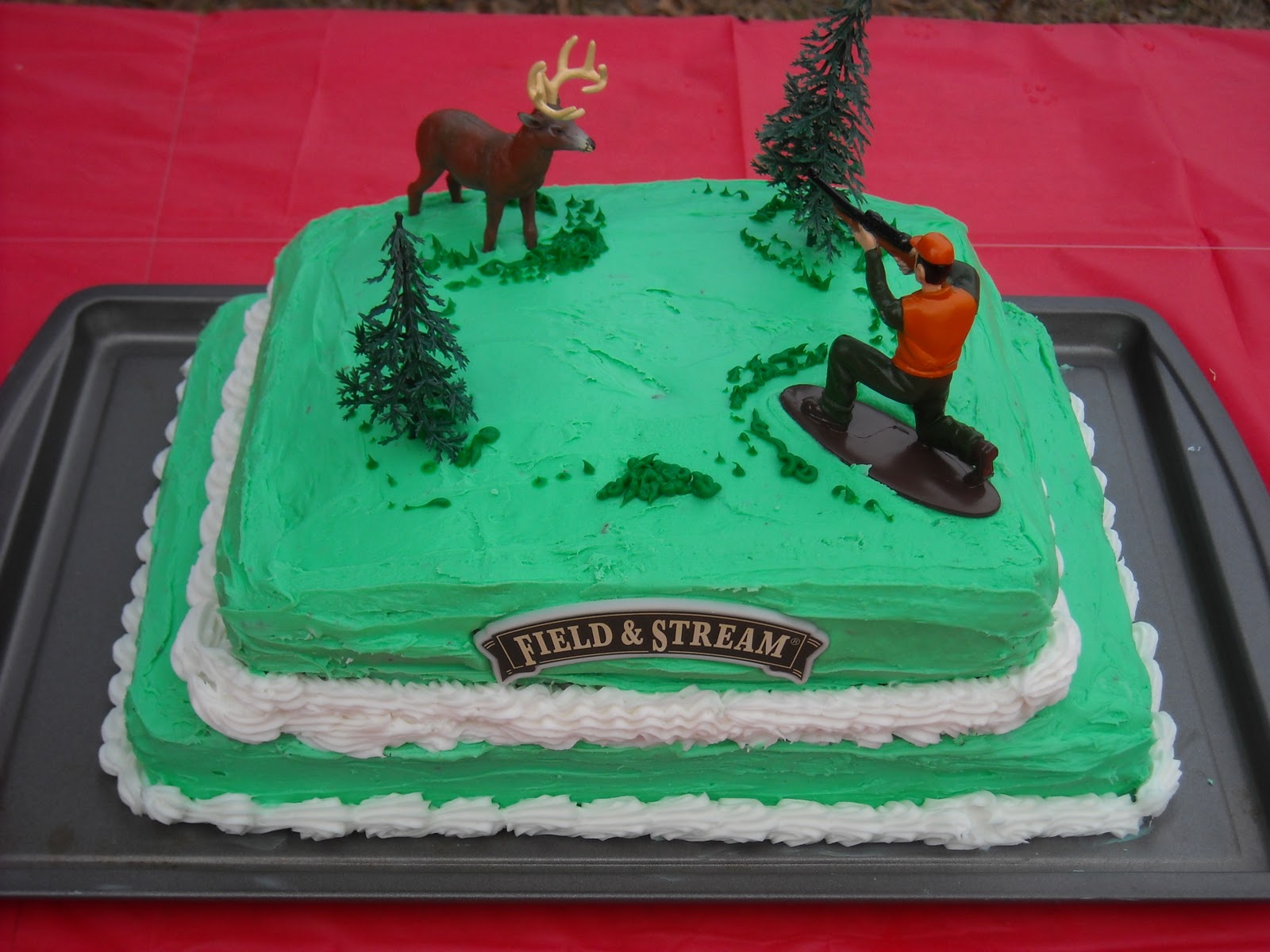 The Thrifty Southern Mom Field Stream Hunting Birthday Cake