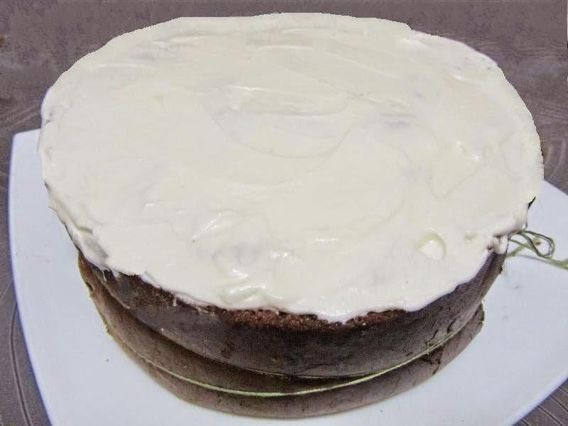 обмазать верх торта
