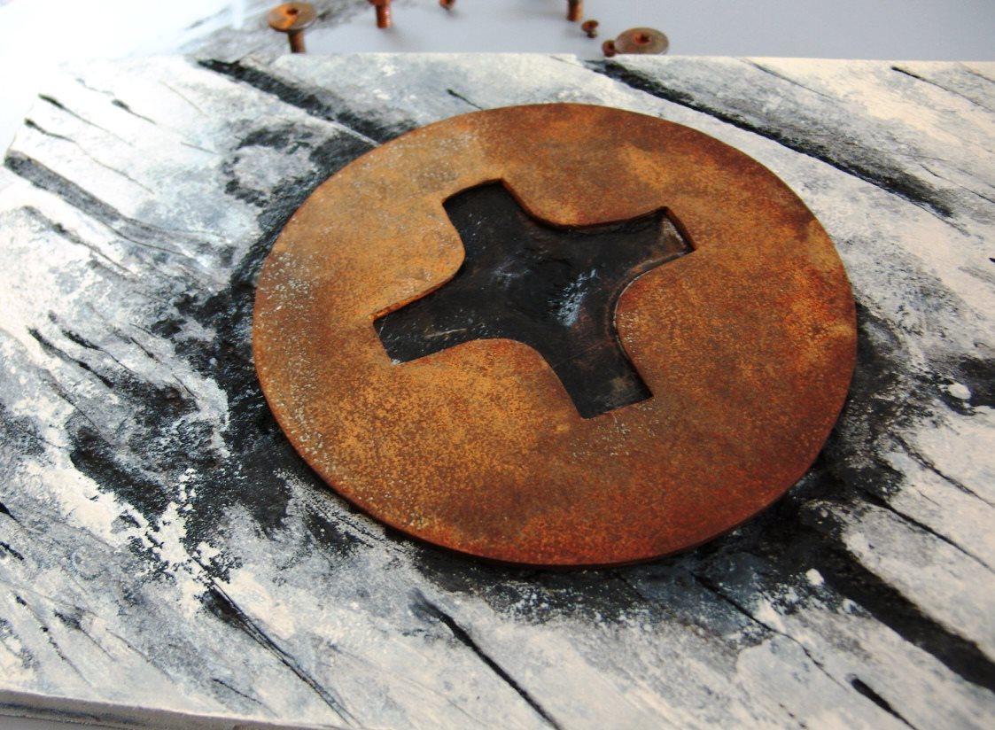 Arte en acero oxidado acero corten cuadros con acero oxidado for Acero corten perforado oxidado