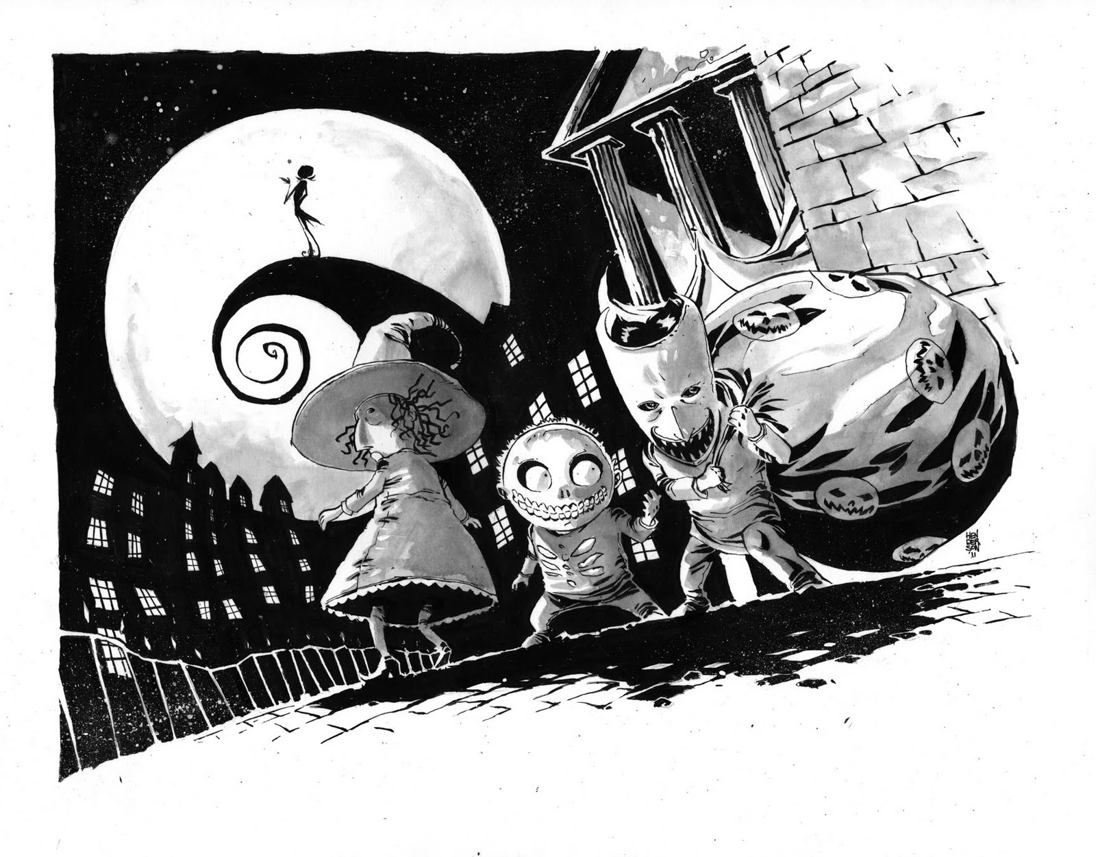 The Art of Mike Henderson: The Nightmare Before Christmas.