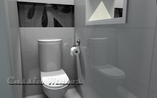 Tudo Decorado Projeto PetCare  Por Cássia Matos -> Banheiro Decorado Masculino
