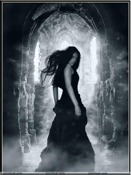 la dama de negro Soñar con una mujer vestida de negro.