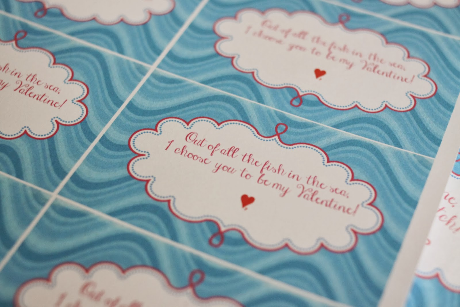 The larson lingo fish y valentines free printables for All the fish in the sea