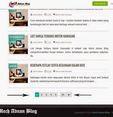 Cara Merubah Navigasi Posting Lama & Baru Dengan Angka Di Beranda Blog