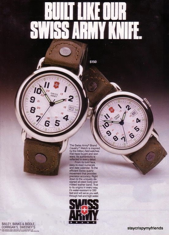 Victorinox Swiss Army Knife Watches in the Mid 90s