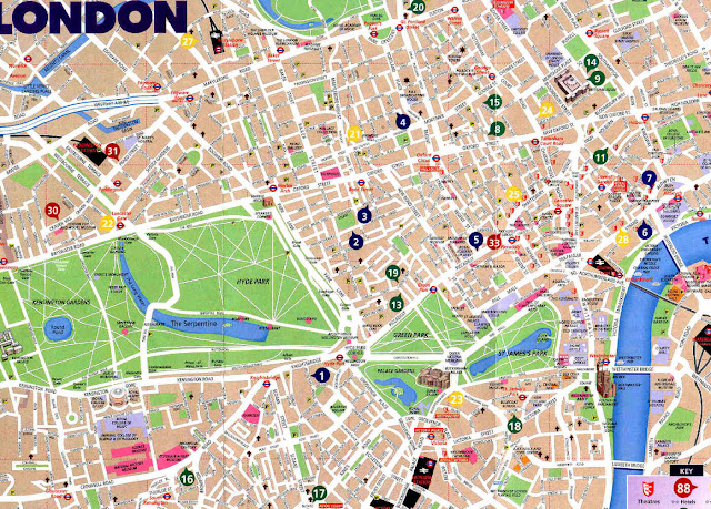 central london street map