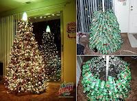 arbol de navidad reciclado con latas de bebidas