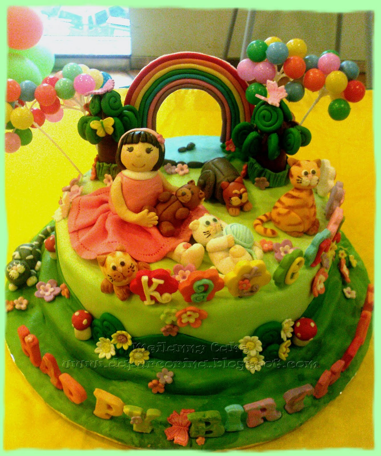 Kue Ulang Tahun Anak : Kate & The Cat in the Garden