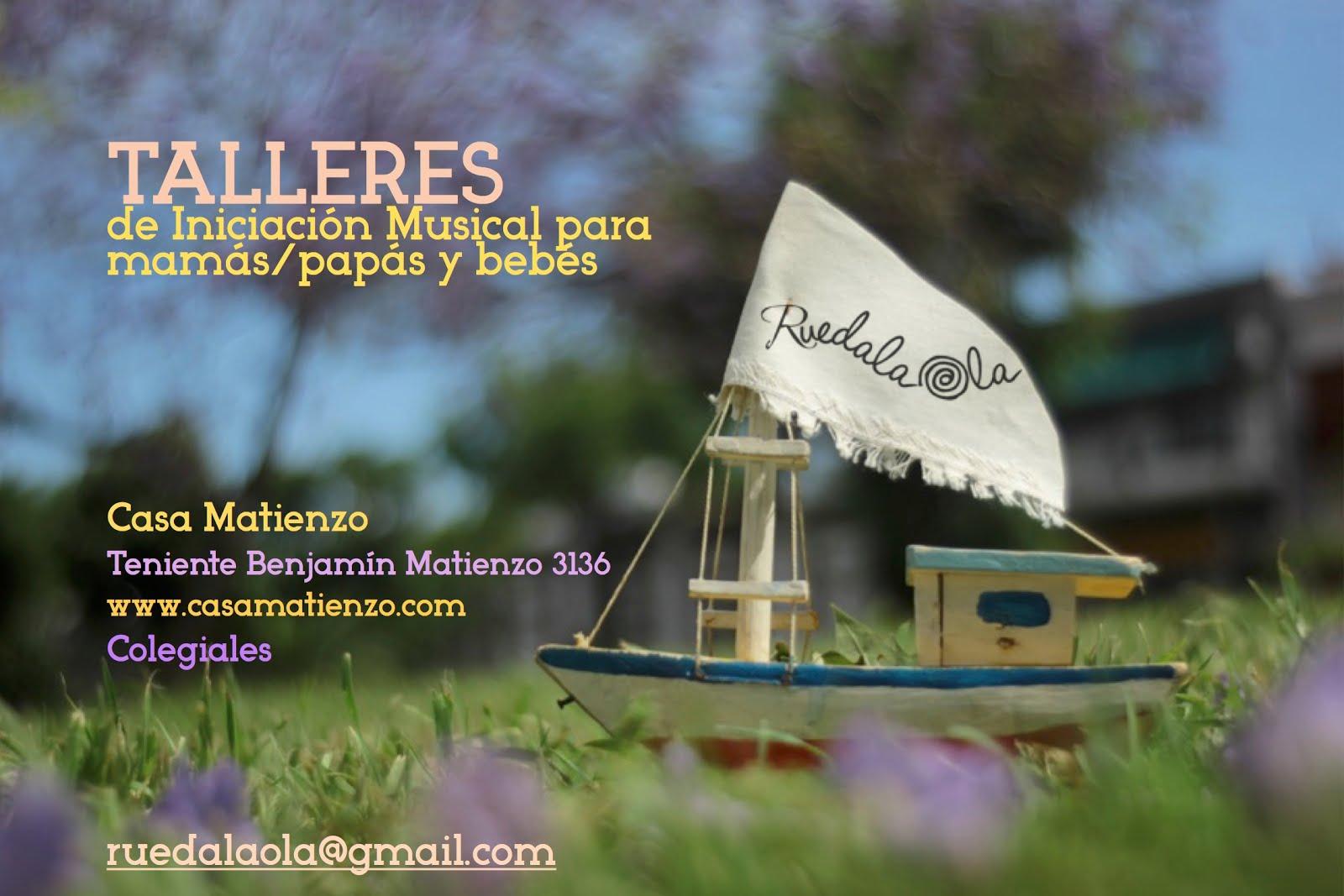 FEBRERO 2017: RUEDALAOLA. Iniciación Musical para mamás y bebes.
