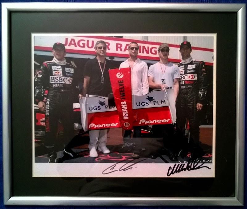 Jaguar Formula One Racing Team Mark Webber Christian Klien signed photo memorabilia