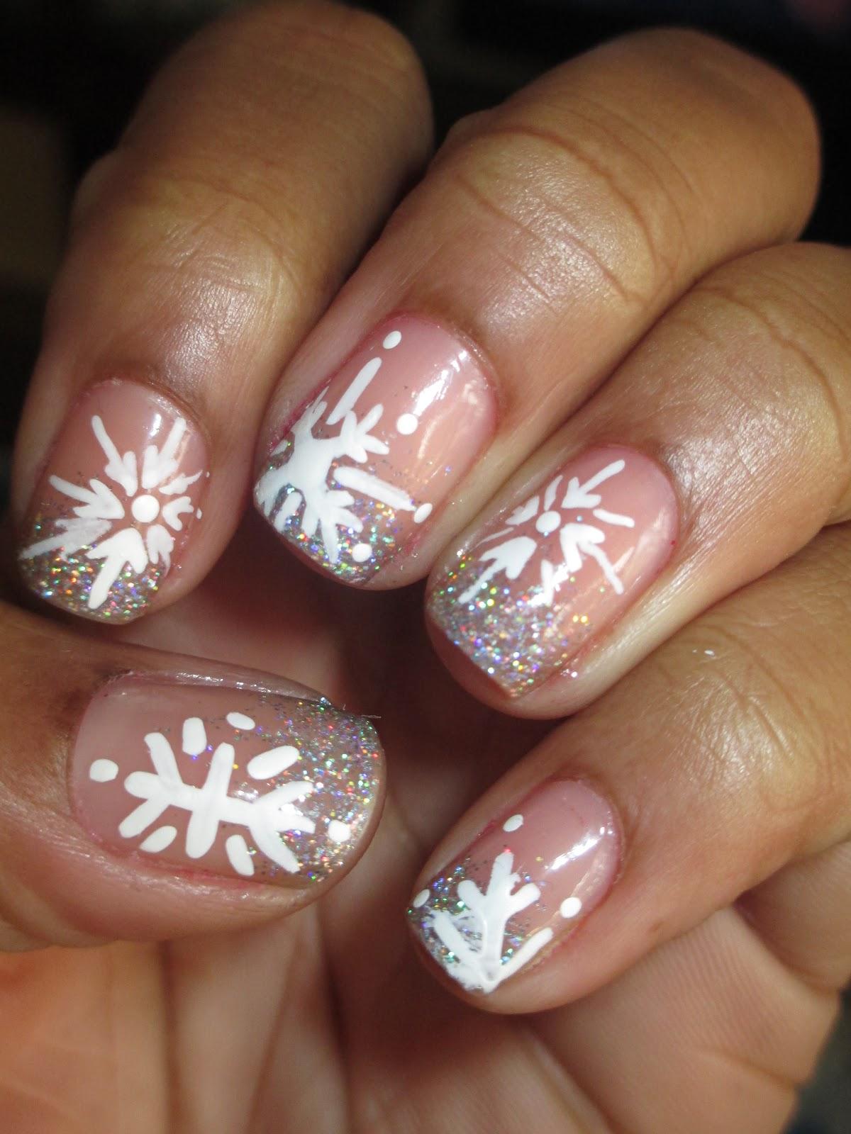 Snowflake Acrylic Nail Designs
