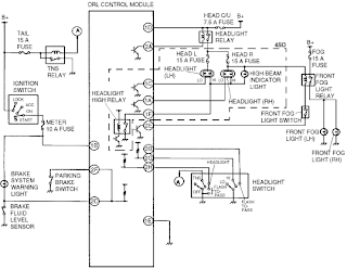 1993 ford taurus daytime running light wiring diagram