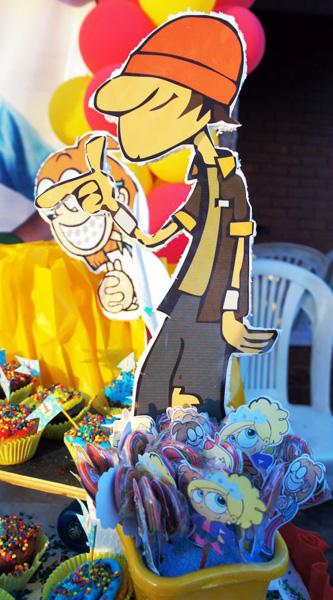 decoracao festa infantil kick buttowski : decoracao festa infantil kick buttowski:Artes da Leitora Cinthia Melo!!