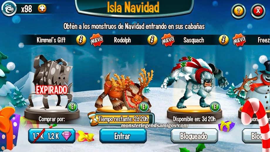 imagen de la segunda guarida de la isla navidad de monster legends