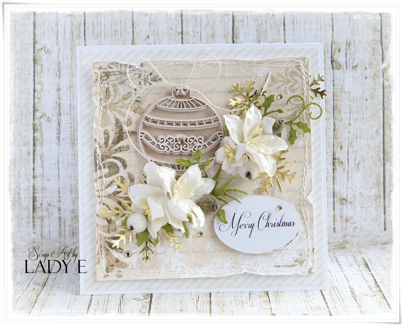Scrap and Craft: Christmas Card With Touch of Gold