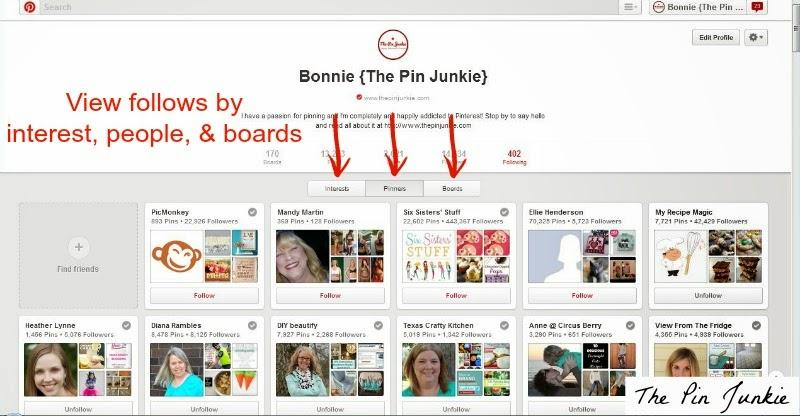narrow a Pinterest search