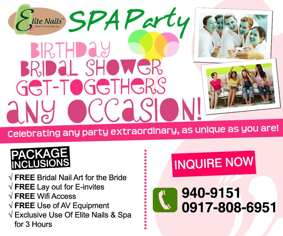 Elite Nails Hand, Foot and Body Spa: Spa Party - An Affair to Remember
