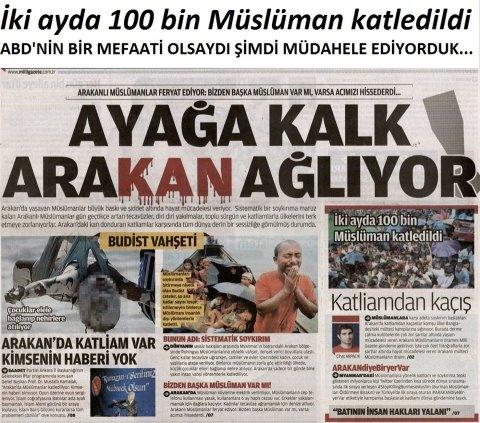 """""""Suriye'nin Dostları"""" toplantısı yapan sahtekarlar! Arakan'da iki ayda tam yüz bin Müslüman katl edildi. Ne yapacaksınız?"""