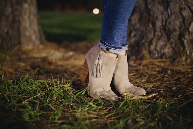 Fall fashion - favorite tassel booties!