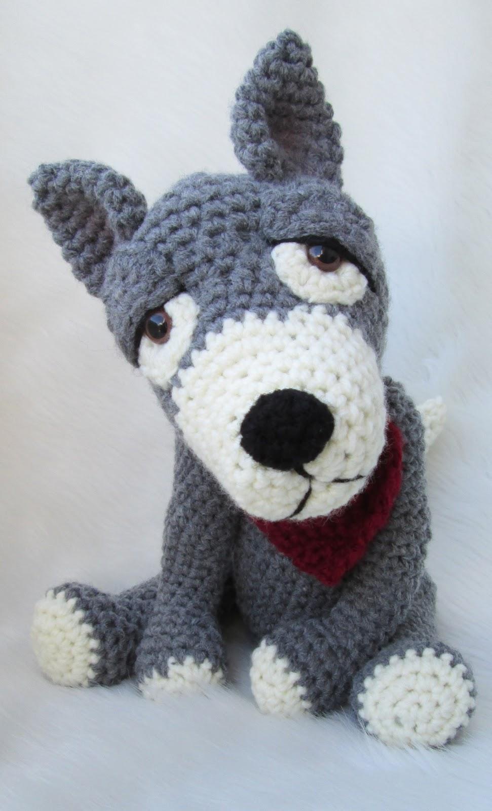 Teri\'s Blog: New Crochet Pattern, Cute Wolf