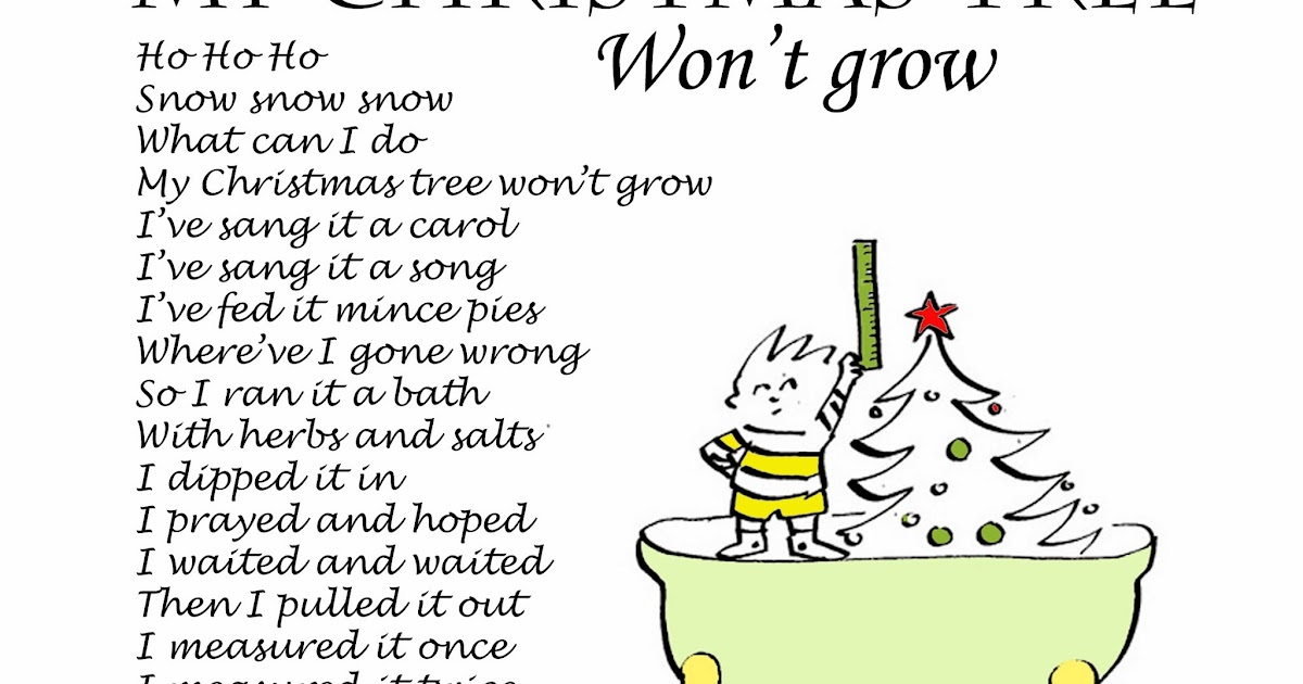 Piddly poems: My Christmas tree won\'t grow