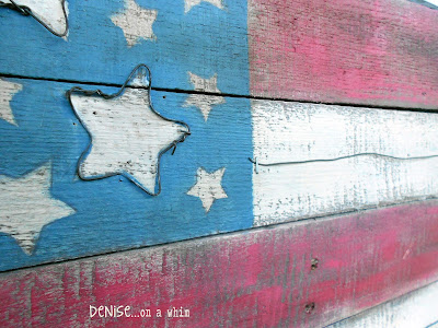 Denise On A Whim Rustic Flag A Pallet Amp Wire Project