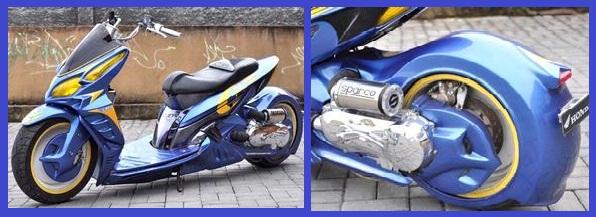 Honda Vario _ LowRider Trend Body Kostum - Gambar Foto Modifikasi Motor Terbaru.jpg