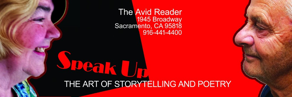 SPEAK UP at The Avid Reader Fri. (3/29)