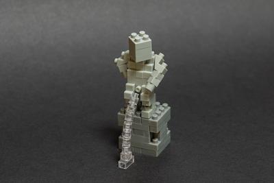 ナノブロックで作った、小便小僧
