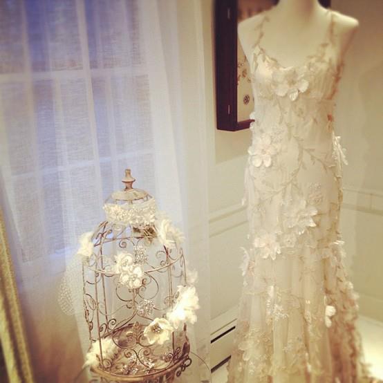 Delicadeza Vintage en los Vestidos de Novia de Claire Pettibone ...